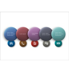 Buttons web design vector image