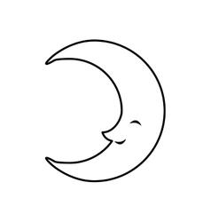 Cartoon moon icon Night concept graphic vector