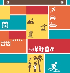 Choose Your Best Summer Vacation Tourist Brochure vector image