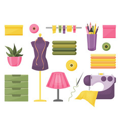 collection of sewing accessories vector image