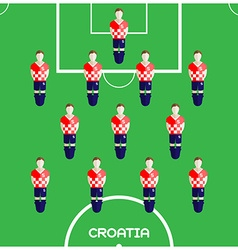 Computer game Croatia Football club player vector