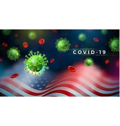 Covid-19 coronavirus outbreak in usa design vector