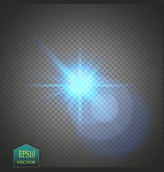 creative concept set of glow light effect stars vector image
