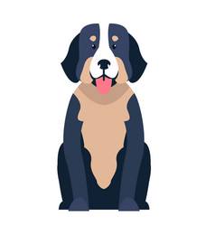 cute st bernard dog cartoon flat icon vector image