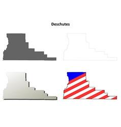 Deschutes Map Icon Set vector