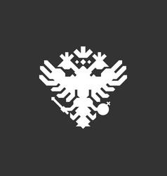 double eagle logo russian eagle logo vector image
