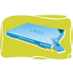 Dvd player vector