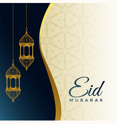 Eid festival celebration card design vector