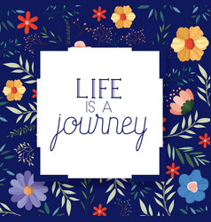 enjoy journey message with hand made font vector image