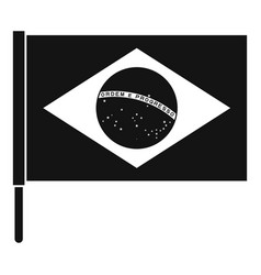 flag of brazil icon simple style vector image