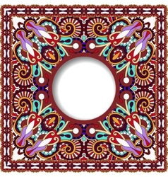 Floral round pattern in violet colour ukrainian vector