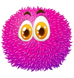 Fluffy ball with happy face vector