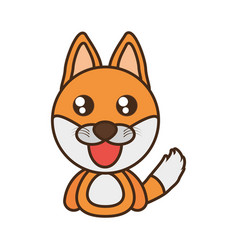 Fox baby animal kawaii design vector