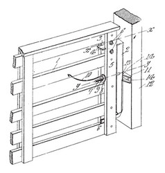 Gate latch is s device for holding a door lock vector