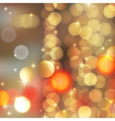 Gold blurred lights vector