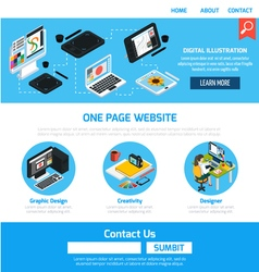 Graphic design template for website vector