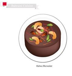 Halwa or Bahraini Corn Starch Jelly with Saffron vector