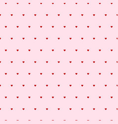 hearts seamless pattern pink background with vector image