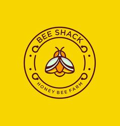 Honey bee farm logo for download vector