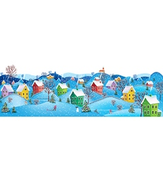 Horizontal winter banner vector image