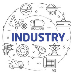 lines industry vector image