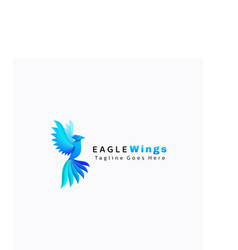 logo eagle gradient colorful style vector image