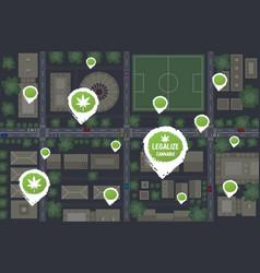 medical cannabis or marijuana stores location geo vector image