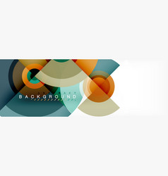 modern circle background vector image