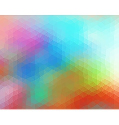 Multicolored polygonal consist of triangles vector image