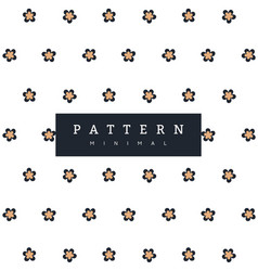 patterns flowers minimalism vector image