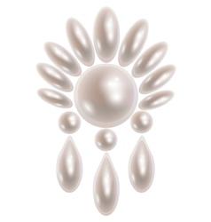 Pearl earring vector
