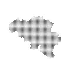pixel map of belgium dotted map of belgium vector image