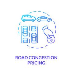 Road congestion pricing concept icon vector
