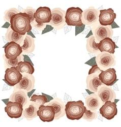 Rose frame for a postcard square vector image