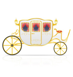 Royal carriage for transportation of people vector