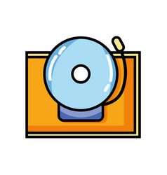 school bell alert object design vector image