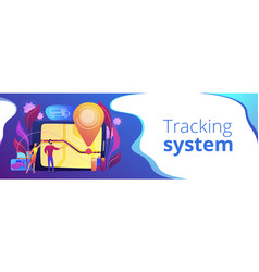 School bus tracking system header banner vector
