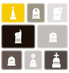 Seamless background with grave vector image