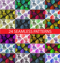 Seamless colorful abstract pattern with stylized V vector image
