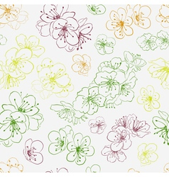 seamless pattern cherry blossoms vector image