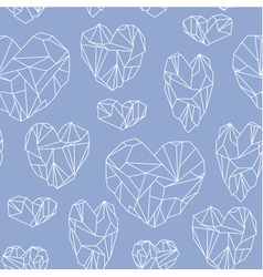 Seamless pattern made of mineral heart vector image