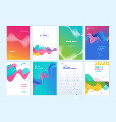 Set brochures and annual reports vector