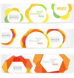 Set of floral information banners vector image