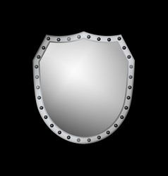 shield silver gray icon shape emblem vector image