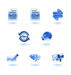 shiny internet browser icon set vector image