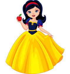 snow white vector image