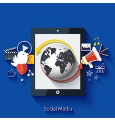 Social media Cloud of application icons vector image