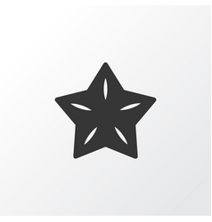 Starfruit icon symbol premium quality isolated vector