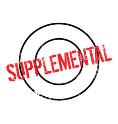Supplemental rubber stamp vector