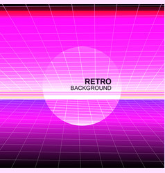 synthwave retro poster design vector image